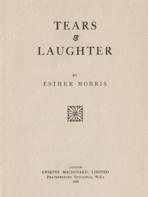 Tears and Laughter: Esther Morris