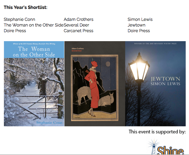 Shortlisted for Shine/Strong