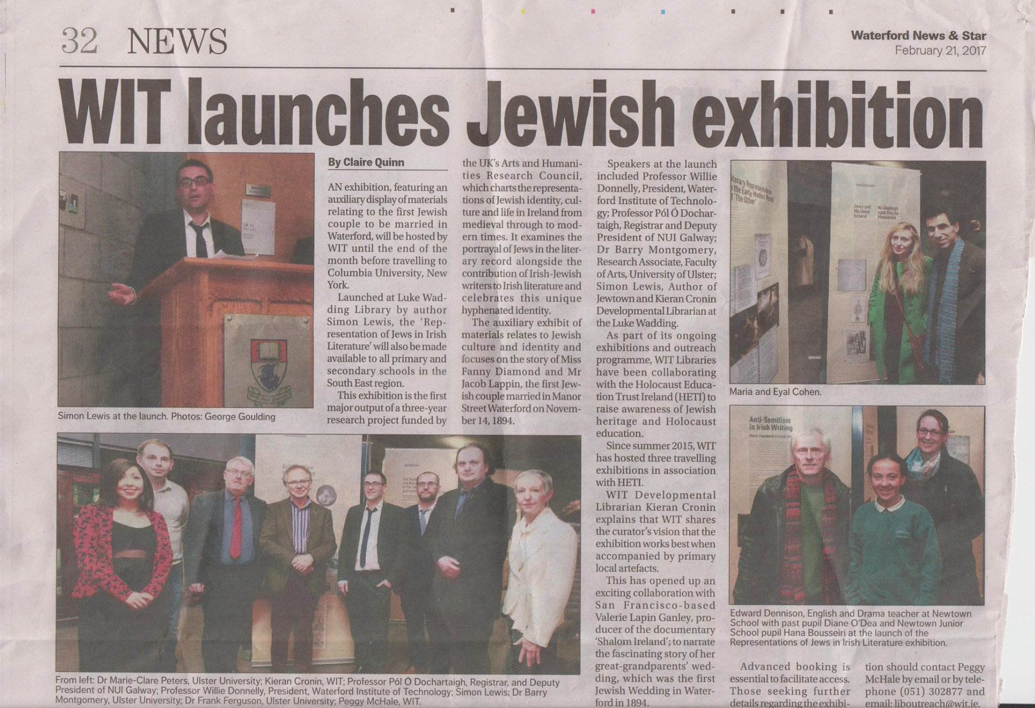 Write Up in Waterford News and Star